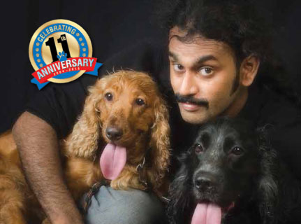 Vinoth with Curly and Jessie